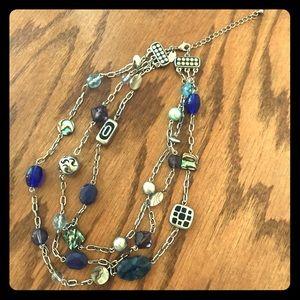 NEW Beautiful Lia Sophia tri-strand multi necklace